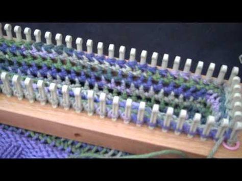 Loom Knitting Mock Crochet stitch