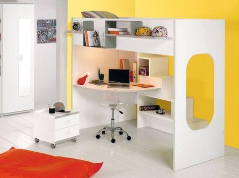 1000 ideias sobre lit mezzanine avec bureau no pinterest - Lit mezzanine gauthier ...