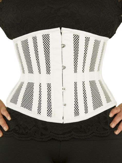 a1dfb18396 White mesh CS-411 underbust corset. Authentic steel boned corset ...