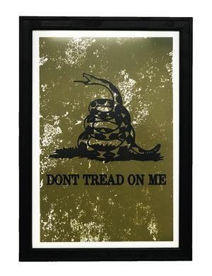 Don T Tread On Me Poster Art Distressed Print Green 13x19 Flag Art Art Art Prints