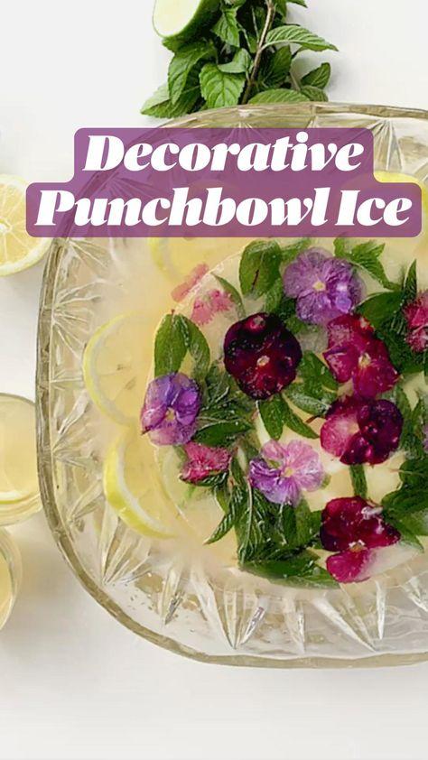 Decorative  Punchbowl Ice