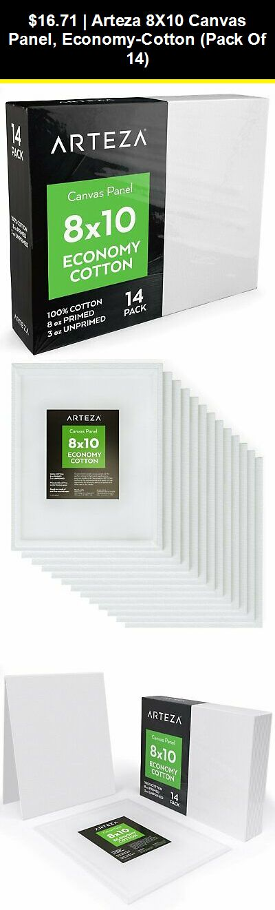 """12 Pack Art Panel Blank Canvas Painting Board 8x10/"""" Stretched Mounted Artist New"""
