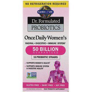 Garden Of Life Dr Formulated Probiotics Once Daily Women S Probiotikum Fur Frauen 30 Vegetarische Kapseln Iherb In 2020 Probiotics Health Coconut Health Benefits