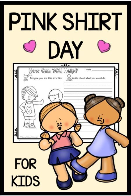 Use These Printable Anti Bullying And Pink Shirt Day Activities To Make Lesson Plans Do Writing Re Anti Bullying Activities Bullying Activities Anti Bullying