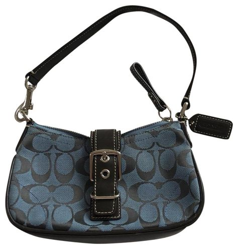 Coach Mini Purse Blue and Brown Shoulder Bag Coach Mini Purse, Coach Purses, Coach Bags, Vintage Bags, Vintage Handbags, Coach Shoulder Bag, Cute Purses, Branded Bags, Cute Bags