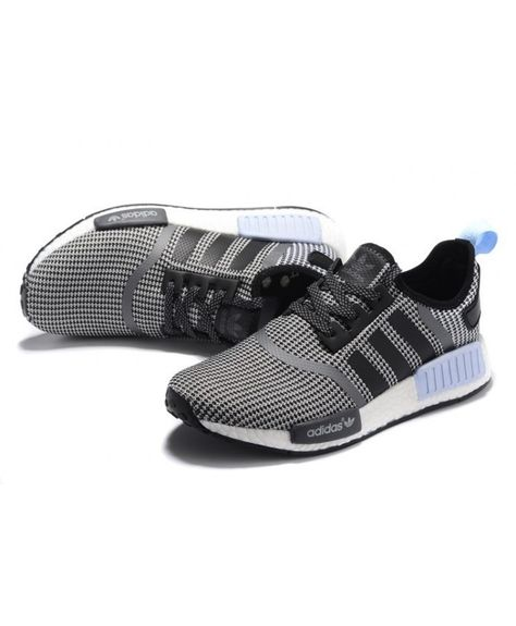 8fc6331d9 Adidas NMD Junior Core Black White Clear Blue Shoes