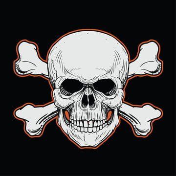 Head Skull With Crossbones In The Black Background Skull Clipart Anatomy Angry Png And Vector With Transparent Background For Free Download Black Backgrounds Crossbones Skull