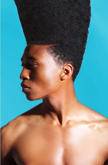 Natural hair - checking out the fella with the high top fade