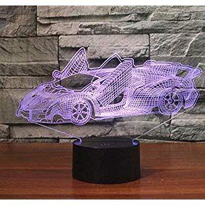 3d Nachtlicht Child Lamborghini Sportwagen 3d Lichter Bunte Visuelle Lichter Touch Led Lichter Nachtlicht Beleuchtung In Sneakers Nike Nike Huarache Sneakers