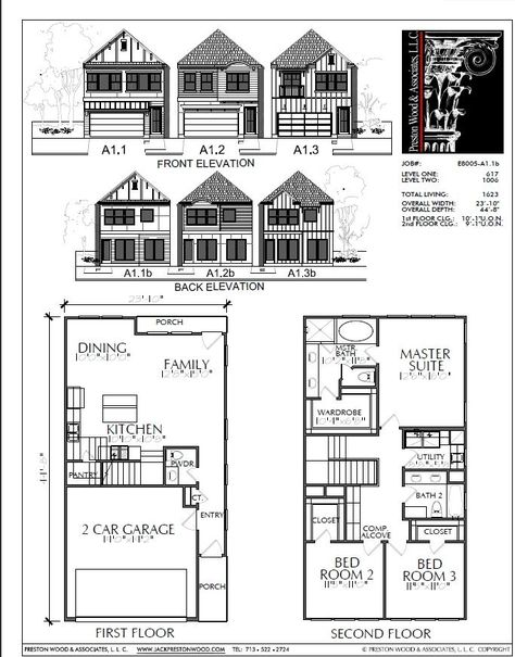 Two Story Home Plan E8005 A1 1 Shed Plans Diy Shed Plans House Plans