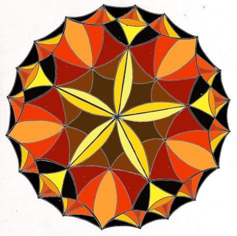 Mandala colorier de d cembre les couleurs de la vie for Agencement de couleur