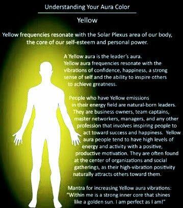 Aura color yellow