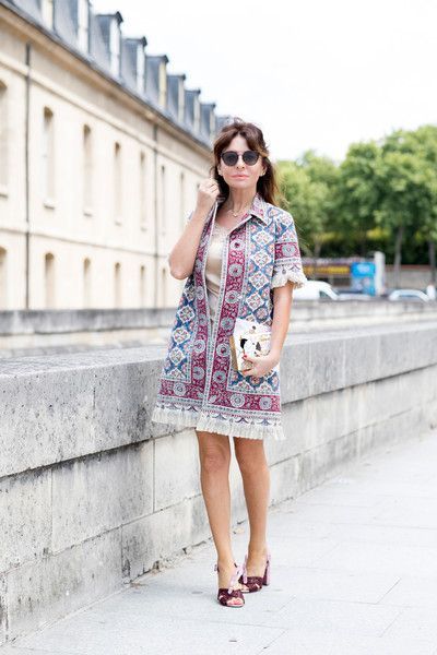 Patterned Jacket - Inspiring Outfit Ideas From Paris Couture Week - Photos
