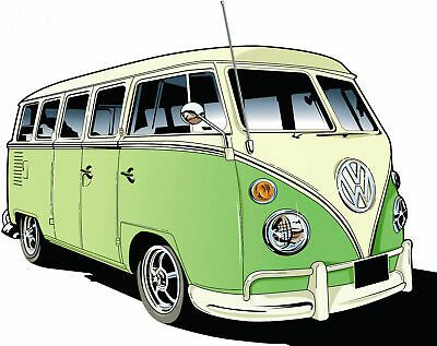 Green Vw Camper Van Iron On T Shirt Transfer A5 Fashion Clothing Shoes Accessories Women Womensclothing Ebay Link In 2020 Retro Cars Vw Art Vw Campervan