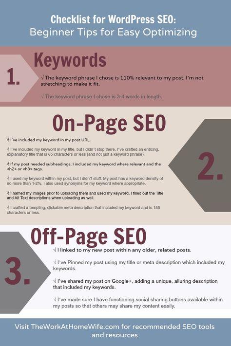 Checklist for WordPress SEO: Beginner Tips for Easy Optimizing