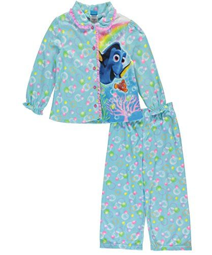 Disney Girls Finding Dory 2-Piece Pajama Coat Set