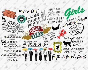 Friends tv show svg files for cricut | Etsy | Cricut, Svg