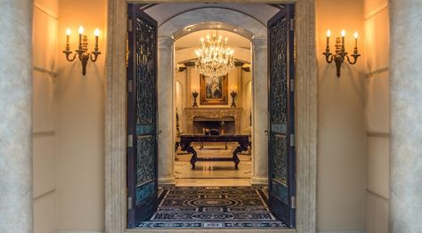 This Exquisite Beverly Hills Gated Manor Not Only Features - Ardmore hall luxury residence built by michael knight