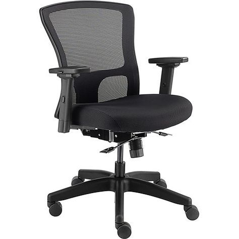 Chairs Mesh 24 Hour Mesh Back Task Chair And Seat Slider Fabric Black 695487 Globalindustrial Com Task Chair Chair Fabric Seat