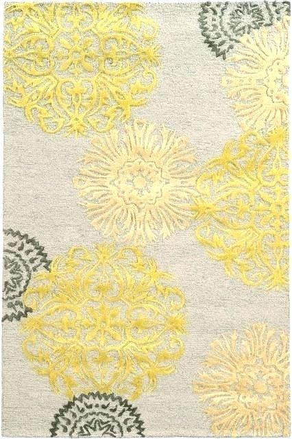Encouraging Yellow Grey Area Rug Pictures Ideas Yellow Grey Area