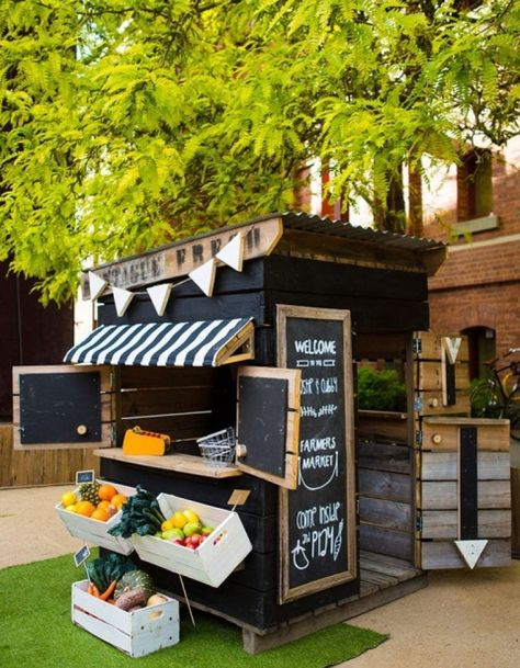Discover the charm of farmers market cubby houses at Castle & Cubby, the cubby houses Australia is talking about. Find kids cubbies for sale & hire here. Kids Cubby Houses, Kids Cubbies, Play Houses, Preschool Cubbies, Kids Outdoor Play, Outdoor Play Spaces, Outdoor Games, Outdoor Ideas, Build A Playhouse