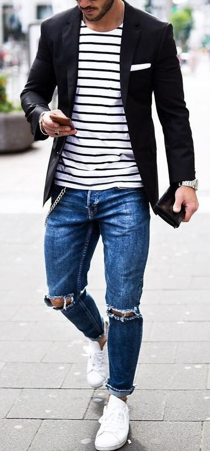 14 Jawdroppingly Cheap Ripped Jeans for Men | Männer mode