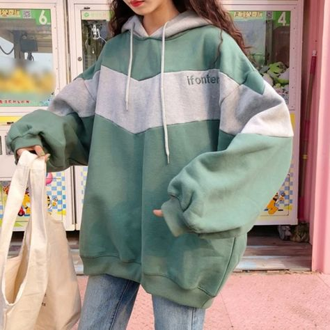 XTX Women Comfortably Pocket Baseball Velvet Elastic Waist Tracksuit Hooded Sweatshirts