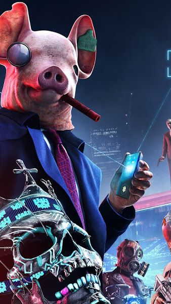 Watch Dogs Legion Characters Mask 8k 7680x4320 Wallpaper Watch Dogs Art Watch Dogs Legion Characters