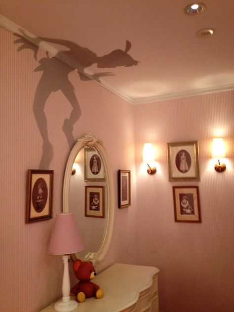 Peter Pan's Shadow:  This particular effect  was done by an interior designer and is painted on directly.