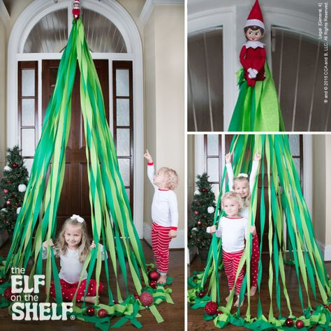 It will be Scout Elf Return Week™ before you know it, and your elf will be planning an impressive arrival in your home! The Scout Elves picked some pictures of their favorite arrivals to show you how your elf may choose to arrive this year. Elf Ideas Easy, Awesome Elf On The Shelf Ideas, Elf Is Back Ideas, Album Design, Christmas Activities, Christmas Traditions, Christmas Ideas For Kids, Fun Christmas Party Games, Grinch Party