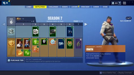 Fortnite Battle Royale Battle Pass Rewards Season 2 Pictures