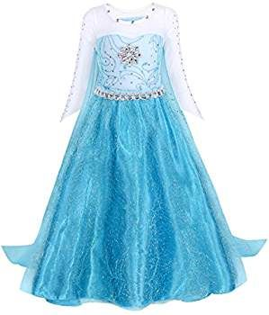 AmzBarley Belle Costume Girls Dress Princess Layered Cosplay Fancy Party Halloween Outfits 3-12 Years