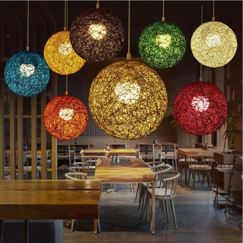 Brighten the room and your mood with a fabulous wicker sphere pendant lamp! Made from premium wicker. Power Source: AC Voltage: 90 - 260V Available in a range of sizes and colors - sold individually. LED light bulbs not included. Free Worldwide Shipping & 100% Money-Back Guarantee