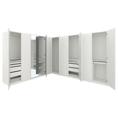 Pax Wardrobe White Mehamn 98 3 8x26x93 1 8 Penderie D Angle Meuble Rangement Armoire D Angle