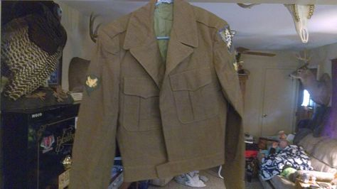 WWII Military US Army IKE Eisenhower Wool Field Jacket 38l XVI CORPS, 16TH CORPS