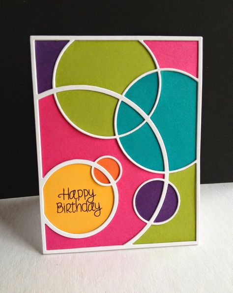 I am so enamored with the Simon Says Stamp Circle Frame die...I made a couple cards, simply changing the paper colors, textures and sentim...