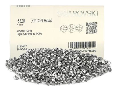 5328 Swarovski® Crystal Bicone Beads Crystal Light Chrome