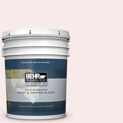 Behr Premium Plus Ultra 5 Gal 190e 1 Light Rosebeige Satin Enamel Interior Paint And Primer In One Interior Paint Behr Flat Interior