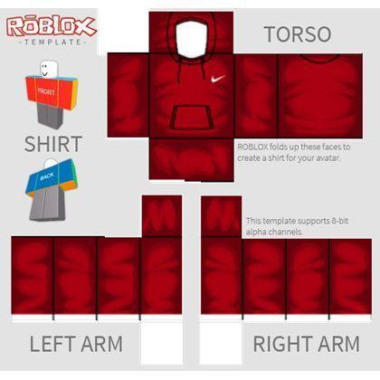 Roblox T Shirt Red Suit Nike Shirt Template Roblox เกม