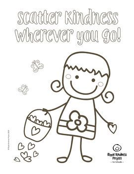 Kindness Coloring Pages Kindness Activities Posters Distance