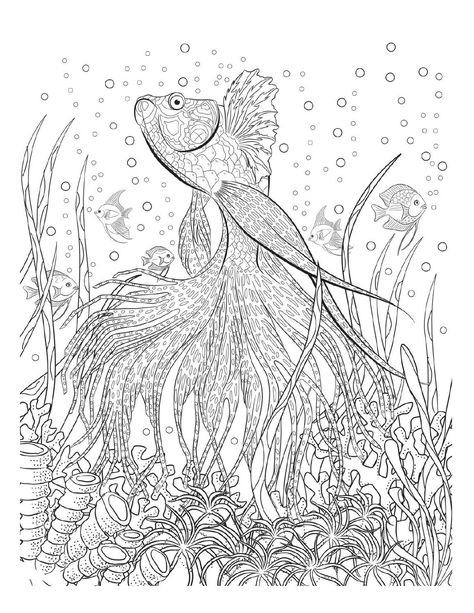 Hard coloring pages difficult coloring pages Pinterest Adult - fresh abstract ocean coloring pages