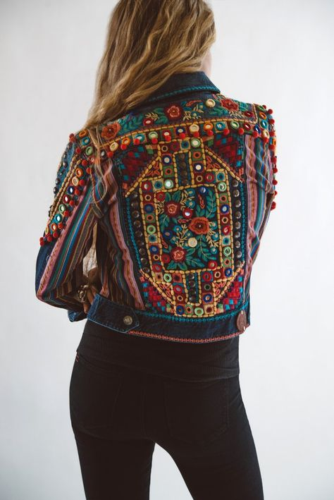 Boho Style Picture Description ~ Gorgeous detailing in back view of DDRs Reyes Jacket. New for Spring 2016 and fabulous! Cant even think of spring…still in winter mode, coping with c-o-l-d mountain weather and staying warm.