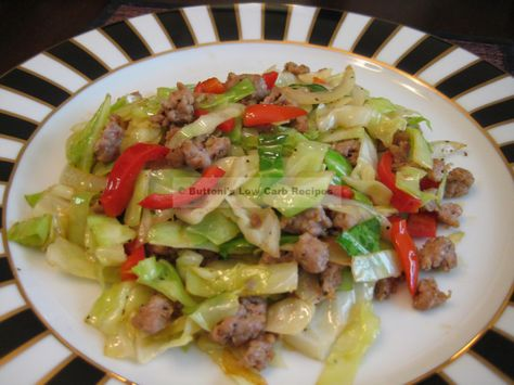 Sausage cabbage stir fry