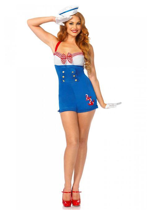 Leg Avenue High Seas Honey Costume #Sailor #Halloween #Outfit #DressUp #Jumpsuit #Romper #Nautical #Uniform