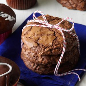 Jumbo Brownie Cookies Recipe from Taste of Home -- shared by Rebecca Cababa of Las Vegas, Nevada