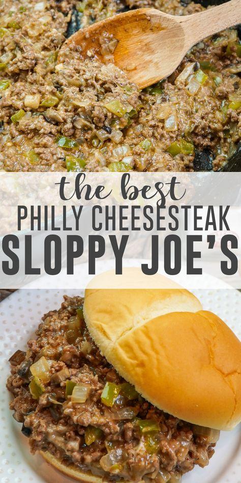 Philly Cheese Steak Sandwich, Steak Sandwich Recipes, Beef Steak Recipes, Ground Beef Recipes, Cheesesteak Recipe, Sausage Bread, Chicken Sausage, Beef Dishes, Stuffed Green Peppers