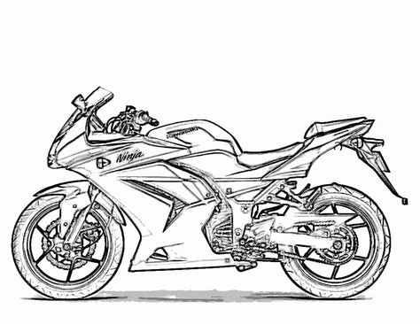 Honda Bike Coloring Page