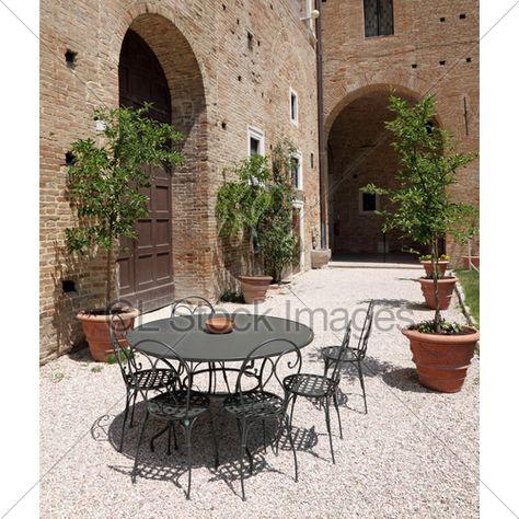 Tuscan Garden Brick Patio Italian