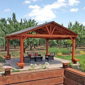 Del Norte Outdoor Kitchen Pavilion Backyard Pavilion Outdoor Covered Patio Outdoor Pavilion