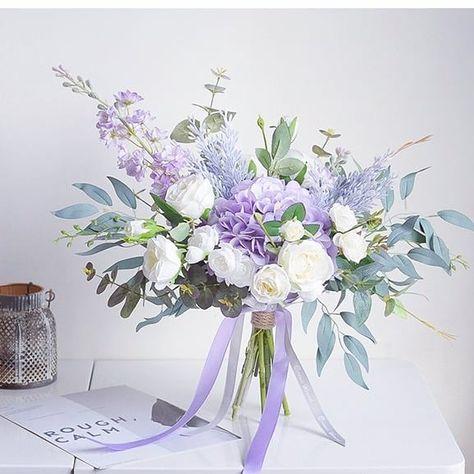 "Meeix - Boutique Wedding Store on Instagram: ""I am elegant, dreamy, and charming! Find me on www.meeix.com.au #artificialflowers #weddingbouquet #wedding #lavender #hydrangea #roses…"""